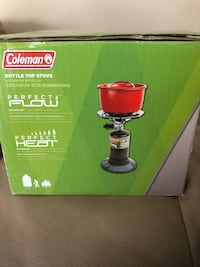 Brand new coleman bottle stop stove