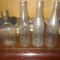 three clear glass bottles with lids Fairview, 28730