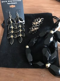 Earrings and Bracelet with Ring Set