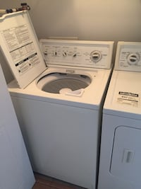White top-load washer and dryer set Gatineau, J9A 3W9