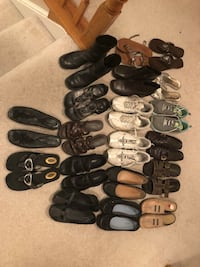 19 pair women's size 8 shoes Montgomery, 60538