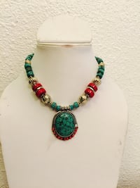 Handmade Turquoise n coral necklace  San Jose, 95133