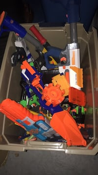 assorted plastic toys in box Red Bank, 07701
