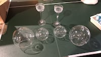 6 glass candle holders  Fairfax, 22033