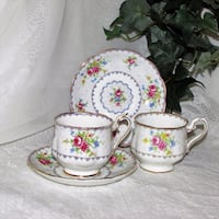 $25 for all Royal Albert Petit Point Cups & Saucers Teacups Mississauga