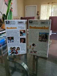 Beethoven 1 & 2 vhs tapes