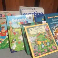 8 French harcover kids books
