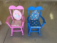 toddler's two blue and pink wooden rocking chairs Mesa, 85205