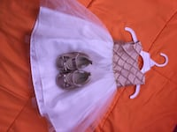 gold and white 12 month dress, with size 3 shoes Germantown