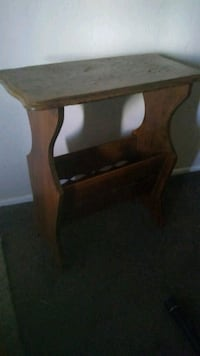 brown wooden side table with magazine rack Bakersfield