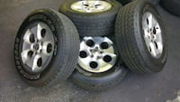 4 x JK wrangler tires and wheels Germantown, 20874