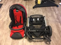 Baby's black and red travel system Edmonton, T5B 2W4