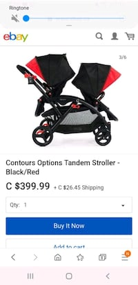 Contours Options Tanden Stroller