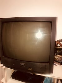 black CRT TV with remote New York, 10032