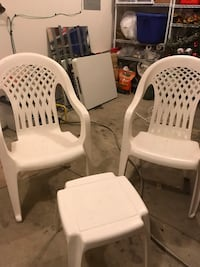 white plastic monobloc chair lot Ankeny, 50023