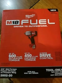 Milwaukee fuel 18v 3/8 impact  Bridgeport, 76426