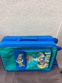 Sailor Moon Luggage/ Suitcase Green & Blue