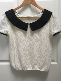 Pristine Nasty Gal Lace Cap Sleeve Top (S) 2401 mi