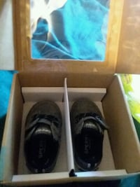 black and gray Adidas low top sneakers in box Rome, 30165