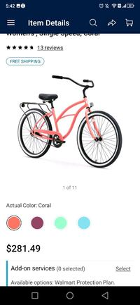 Sixthreezero women's PT cruiser bike brand new