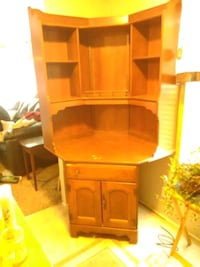 brown wooden cabinet with shelf Des Moines, 50315