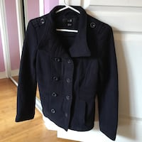 Navy blue double breasted jacket - size small Montréal, H1Y 2S9