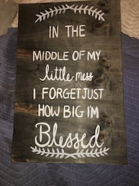 In the middle of my little mess i forgot just how big im blessed quote canva Evington, 24550