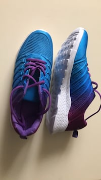 NEW. Pair of Women's Memory Foam sneakers blue-and-purple  running shoes Winchester, 22602
