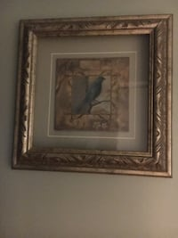 gray bird painting null
