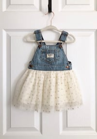 Osh Kosh denim and tulle coverall dress Mississauga, L5M 6C6