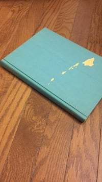 teal covered book