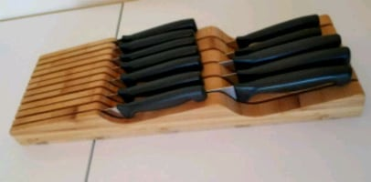 12 Piece Knife Set with In-Drawer Organizer