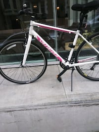 White and pink specialized womens L  bike San Francisco, 94102