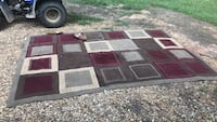 Red, white, and black area rug  Sturgis, 39769