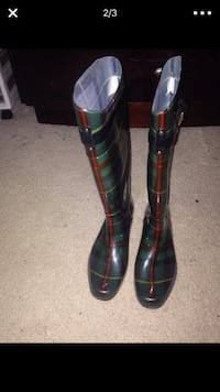 Green, red, and black polo rain boots  Woodbridge, 22191
