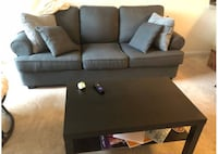 Black fabric 3-seat sofa Washington, 20002