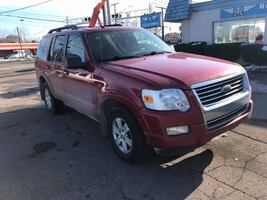 2009 RED FORD EXPLORER XLT 4X4 SUV 3RD ROW MOONROOF RELIABLE