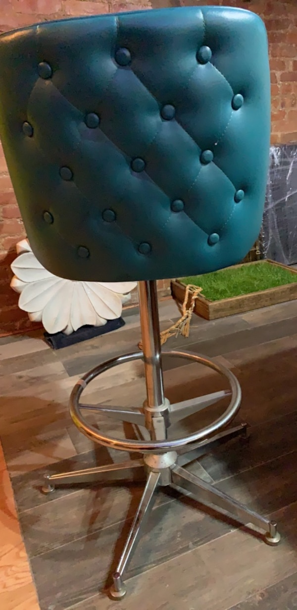 Swell Regal Bucket Seat Button Tufted 26 In Cone Metal Counter Stool Bralicious Painted Fabric Chair Ideas Braliciousco