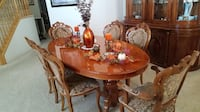 6 chair antique dining room table 2344 mi