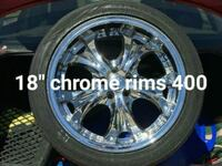 chrome 5-spoke car wheel with tire Millcreek, 84107