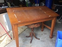 Solid wood drafting table London, N6A 1V9