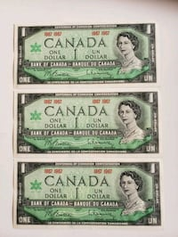 1867- 1967 Set of 3 $1 Vintage Canadian Centennial Calgary, T2R 0S8