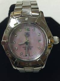 Ladies Tag Heuer Aquaracer Diamond Watch Pink Mother of Pearl