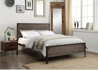 Brand new bed. Wood Panel with Steel Frame Toronto, M9W 3W6