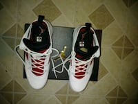 pair of white-and-black Nike basketball shoes Laurel, 20708