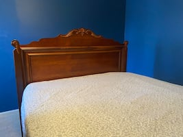 Vintage Queen Bed & Nightstand