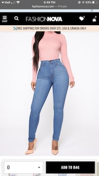 Brand new fashion Nova high rise jeans  Both prices are $70 Negotiable Toronto, M3L 1C7