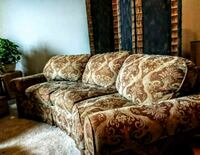 brown and green floral fabric 3-seat sofa Appleton, 54911