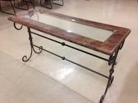 Glass marble and iron table Richmond Hill, L4C 5L1