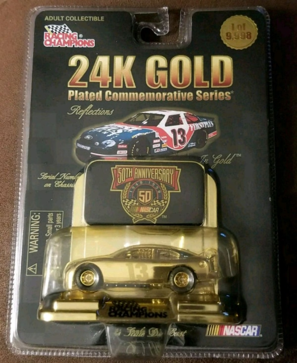 Jerry Nadeau 13 First Plus 24k Gold Plated Racing